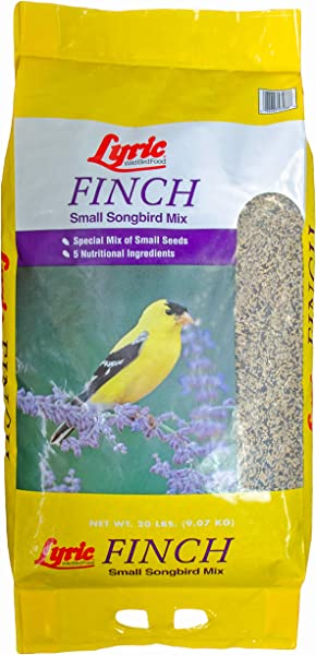 Lyric 2647408 Finch Small Songbird Wild Bird Mix 20 Lb