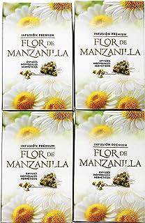 FLOR DE MANZANILLA 80 PIRAMIDES INFUSIÓN PREMIUM 4 CAJAS DE 20 PIRAMIDES TOTAL 80 PIRAMIDES DE 1,75G = 140g. ENVIO GRATIS
