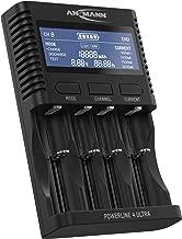 ANSMANN Akku-Ladegerät für AA/AAA/C/D NiMH Akkus & Li-Ion 18650/26650 Batterieladegerät mit 4 Ladeprogrammen: Laden, Entladen, Testen, Schnellladen + USB - Powerline 4 Ultra Akkupflegestation