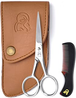 Beard and Mustache Scissors With Comb For Precise Facial Hair Trimming – Sharpness..