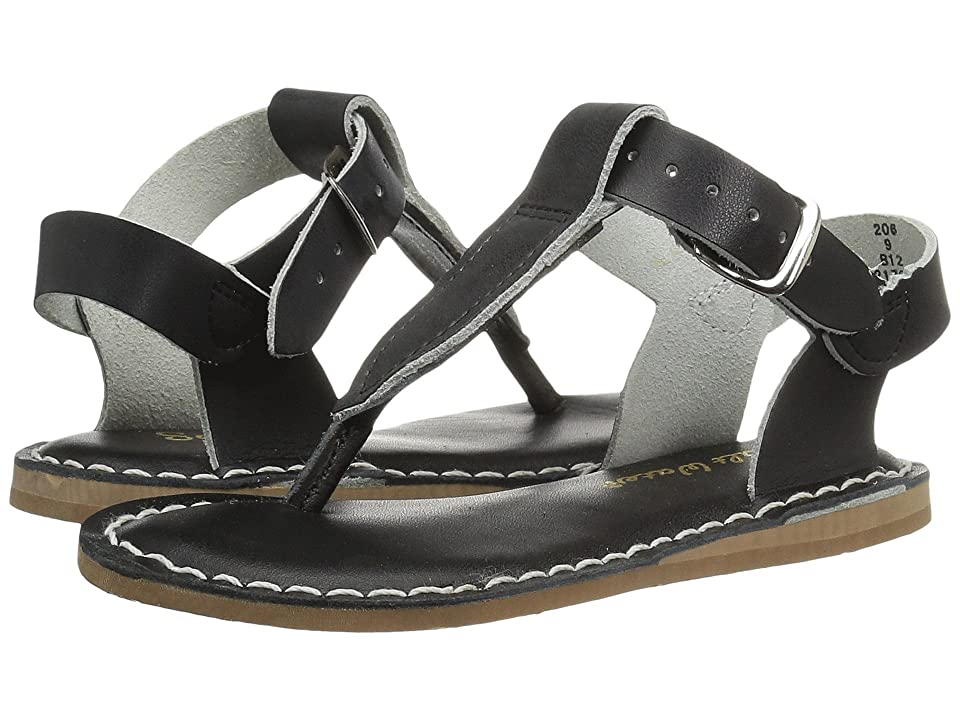 Salt Water Sandal by Hoy Shoes Sun-San T-Thongs (Toddler/Little Kid) (Black) Girls Shoes