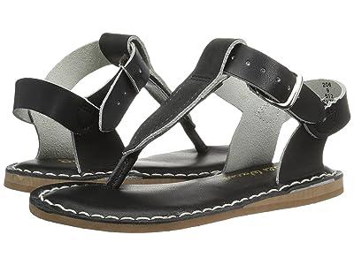 Salt Water Sandal by Hoy Shoes Sun-San T-Thongs (Toddler/Little Kid) (Black) Girls Shoes