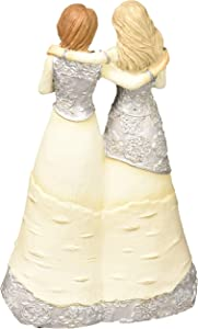 Pavilion Gift Company 6 Inch Collectible Elements Double Angel Figurine Best Friends Fill Our Lives with Love & Laughter, Beige