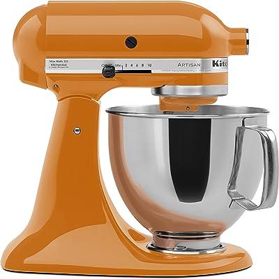 KitchenAid KSM150PSTG Artisan Series 5-Qt. Stand Mixer with Pouring Shield - Tangerine