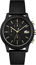 Lacoste Men's TR90 Quartz Watch with Rubber Strap, Black, 21 (Model: 2011012)
