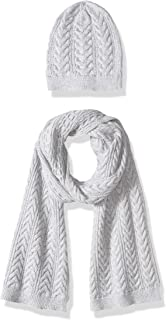 Women's Cable Knit Hat and Scarf Set