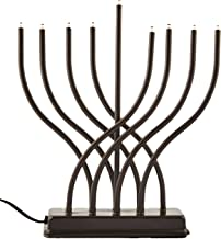 menorah in the window