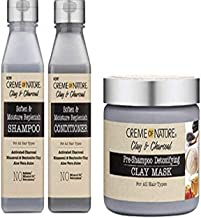 CREME OF NATURE CLAY&CHARCOAL PRODUCT COMBO SET (SH&COND&MASK)