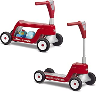 Radio Flyer 615S Scoot 2 Scooter, Toddler Scooter or Ride on, Ages 1-4,Red