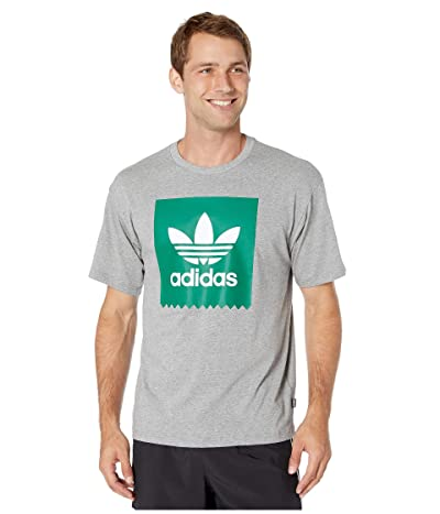 adidas Skateboarding Solid Blackbird Tee (Core Heather/Bold Green) Men