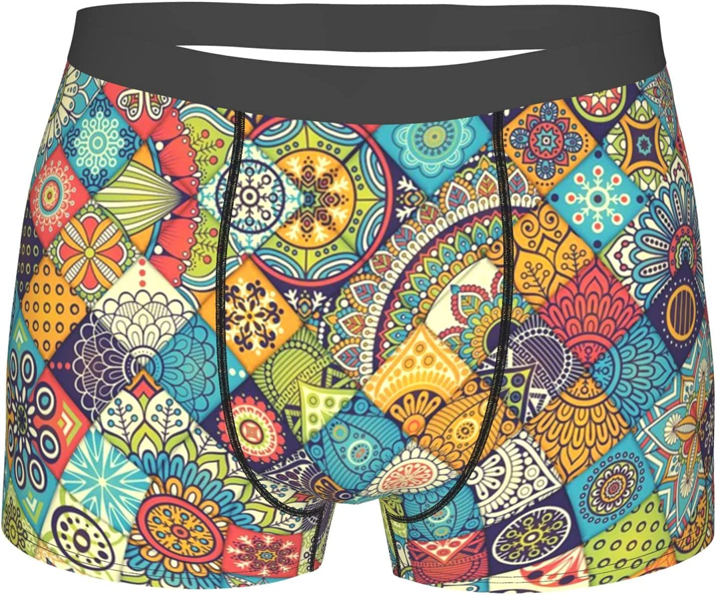YAZXHJAZ Underwear Mens Boxer Briefs Bohemian Special Max 79% OFF sale item F Geometric Floral