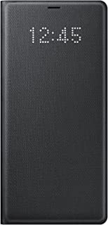 Samsung Galaxy Note8 LED View Wallet Case, Black