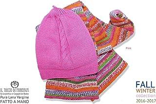 Completo Baby cappellino e sciarpetta Pink Rosa - fatto a mano Made in Italy - Handmade - Regali bimba - Artigianale - ide...
