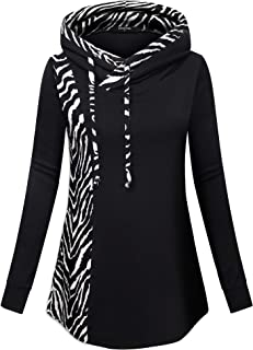 Lotusmile Casual Hoodies for Women with Pockets,Plaid Sweatshirts Flowy Tunic Long Sleeve Pullovers