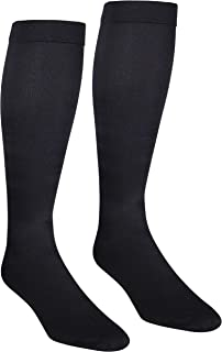 NuVein Men's Compression Socks Dress Trouser Style Over Calf Knee High, Black, X-Large