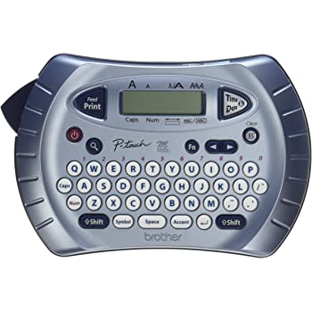 Brother P-touch Label Maker, Personal Handheld Labeler, PT70BM, Prints 1 Font in 6 Sizes & 9 Type Styles, Two-Line Printing, Silver