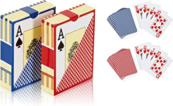 2 Deck of Plastic Waterproof Poker Cards and Playing Cards with Flexible PVC and Classic Trick Cards Pool Beach Water Card Games