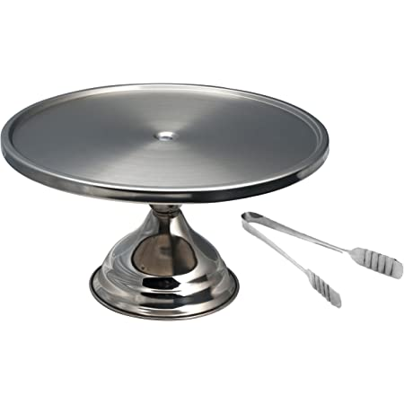 Dynore Set of Cake/Pizza Stand and Cake Tong