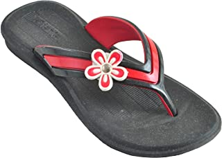 Fit & Style Girl's Black & Red Synthetic Sandal