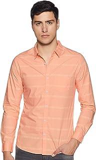 Spykar Men's Printed Slim fit Casual Shirt