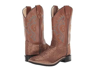 Old West Kids Boots Bella (Toddler/Little Kid) (Tan Glitter) Cowboy Boots