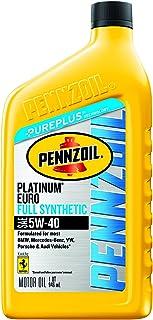 Pennzoil Platinum Euro Full Synthetic 5W-40 Motor Oil (1-Quart, Case of 6)