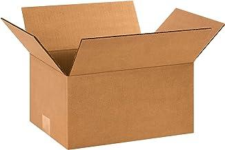 "BOX USA B1296 Corrugated Boxes, 12""L x 9""W x 6""H, Kraft (Pack of 25)"