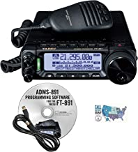 Radio and Accessory Bundle - 3 Items - Includes Yaesu FT-891 HF/6M All Mode 100W Mobile Transceiver, RT Systems Programming Software/Cable Kit and Ham Guides TM Quick Reference Card