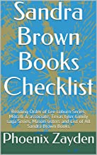 Sandra Brown Books Checklist: Reading Order of Lee coburn Series, Mitcell & associate, Texas tyler family saga Series,  Mason sisters and List of All Sandra Brown Books