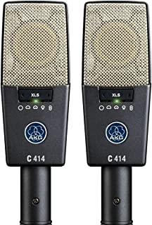 AKG Pro Audio C414 XLS Stereoset Instrument Condenser Microphone, Multipattern, Matched Pair