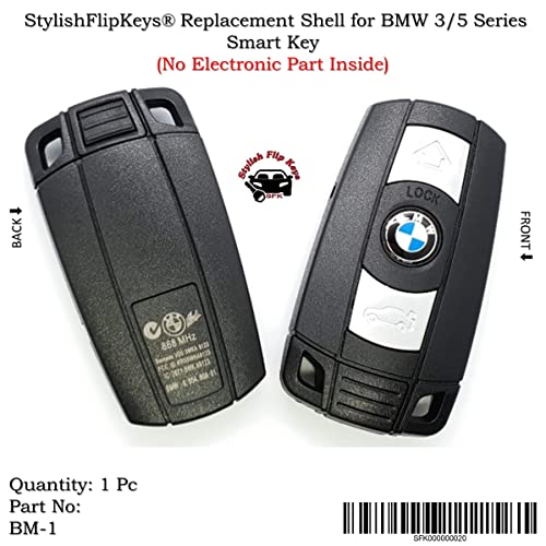 SFK Replacement Shell for BMW 3/5 Series Smart Key (3 Button)