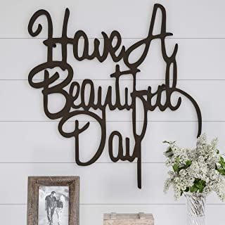 Lavish Home Metal Cutout-Have a Beautiful Day Wall Sign-3D Word Art Home Accent..