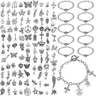set of 100--antique silver metal lamp charm--20x10x6mm--metal pendant-metal charm