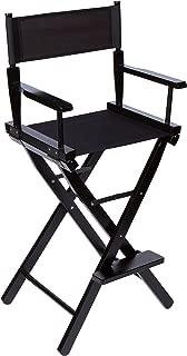 Trademark Innovations Bar Height Director's Chair - Black Wood - 30