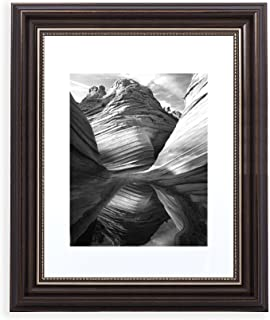 11x14 Picture Frame Antique Brown - Matted to 8x10, Frames by EcoHome