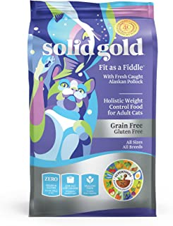 Solid Gold - Fit as a Fiddle with Fresh Caught Alaskan Pollock - Grain-Free - Weight Control Adult Dry Cat Food