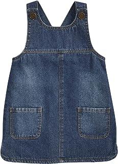 Mud Pie Baby Girls' Denim Overall Dress