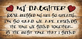 Gigglewick Gifts Shabby Chic Wooden Funny Sign Wall Plaque My Daughter