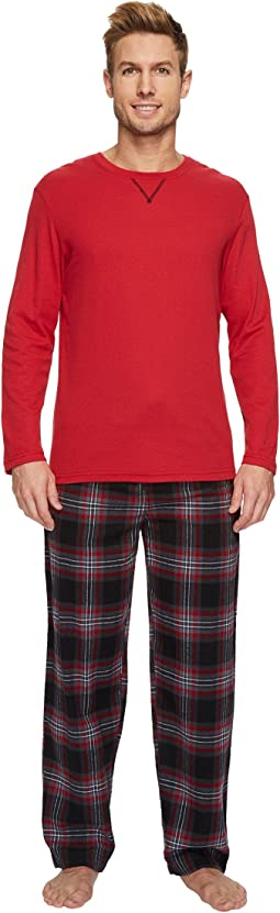 Jockey - Flannel Sleep Pants & Jersey Henley Box Set