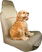 Kurgo Bucket Seat Covers for Dogs   Dog Front Seat Cover   Pet Seat Protector   Car Seat Cover for Pets   Copilot & Shorty   Full & Half Coverage   Waterproof Seat Cover  Black & Hampton Sand / Khaki
