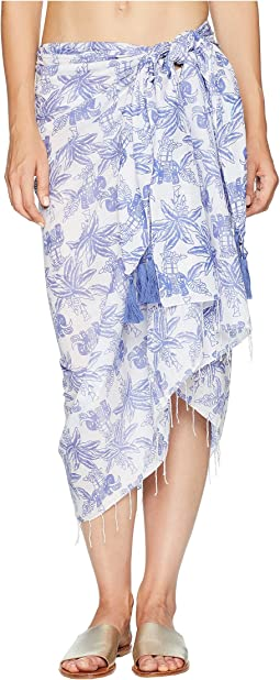 Elephant Print Sarong Cover-Up