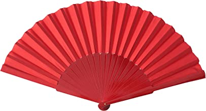 La Senorita Flamenco Fächer, Handfächer, Tanzfächer - Stoff und Holz XL verschiedene Farben