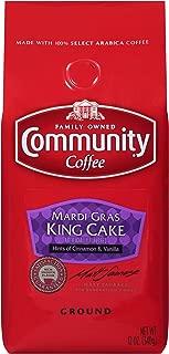 Community Coffee - Mardi Gras King Cake Flavored Medium Roast - Premium Ground Coffee - 12 Ounce Bag