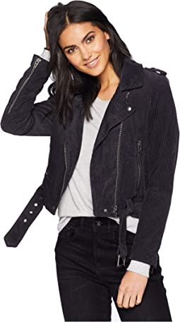 Corduroy Moto Jacket in Twilight Zone