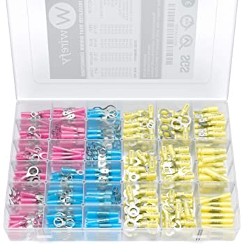 300pcs soudure joint bout /à bout fil /à sertir connecteurs kit dassortiment de bornes /électriques thermor/étractables