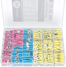 540 PCS Wirefy Heat Shrink Wire Connectors - Electrical Terminals Kit - Marine Automotive Crimp Connector Assortment - Ring Fork Hook Spade Butt Splices