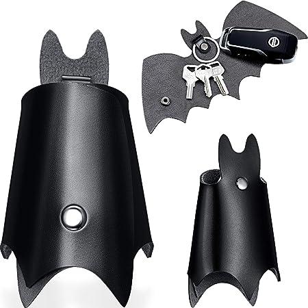 Llavero de Batman Cuero sintetico Color Negro Piel Sint/ética Estuche Cartera para Varias Llaves de Coche o Moto Regalo Original