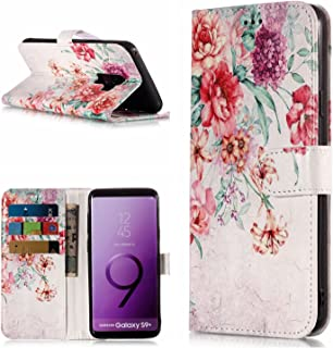Samsung Galaxy A8 2018 Cherry Blossom, Veined MarbleFlip Case Leather Cover Luxury Business Mobile Phone case Kickstand Card Holders