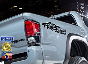 INCreation Company Tundra Tacoma Truck Body Side Bed Decal, x2 Matte Black Vinyl Stickers TRD Off Road 4x4, Custom auto Graphics, Racing Development Factory Style Design