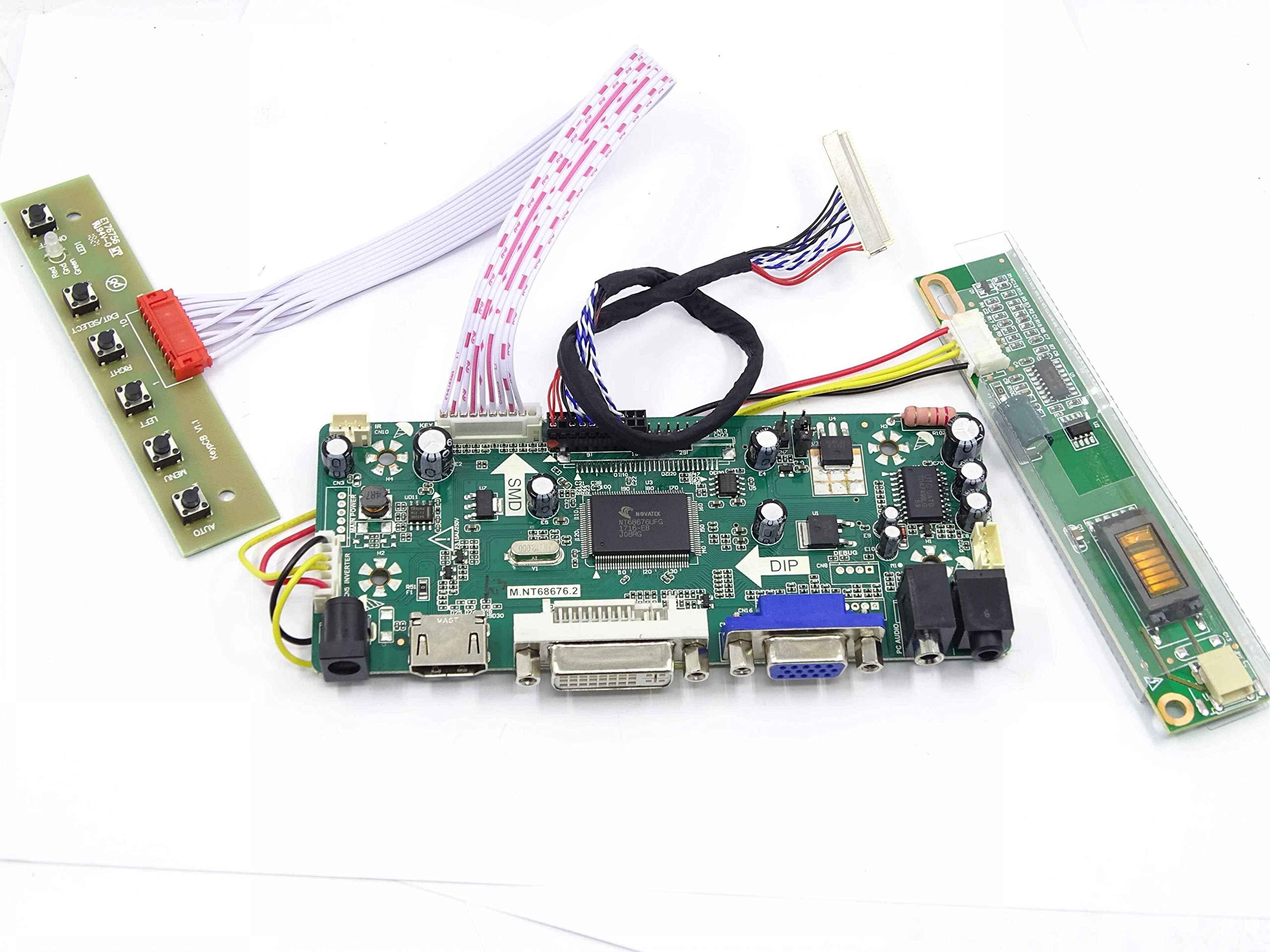 For M170EG01 V.8 LCD Screen Driver Controller Board HDMI+DVI+VGA M.NT68676.2